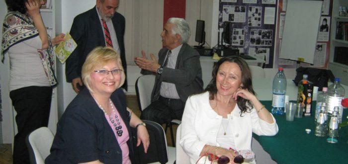 Русский центр, 2 июня - после закрытия симпозиума: В. Джапа-Иветич, О. Г. Никанорова