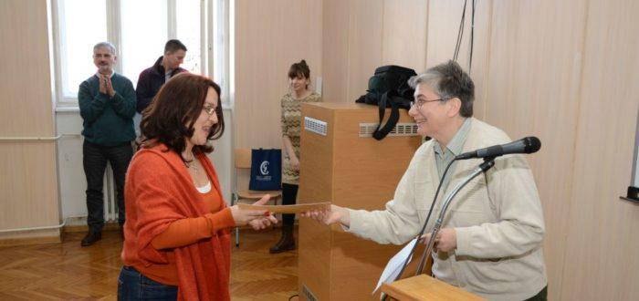 Уручивање захвалница Славистичког друштва Србије